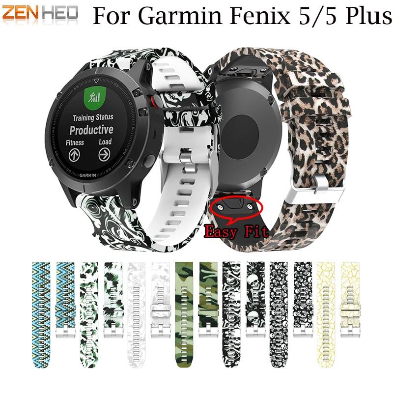 [해외]Garmin Fenix ??용 22MM Watchband 전조 꾼 935 GPS Watch 용 빠른 릴리스 인쇄 된 실리콘 손목 고정 용 손목띠 스트랩/22MM Watchband for Garmin Fenix 5/5 plus for forerunner 935 G
