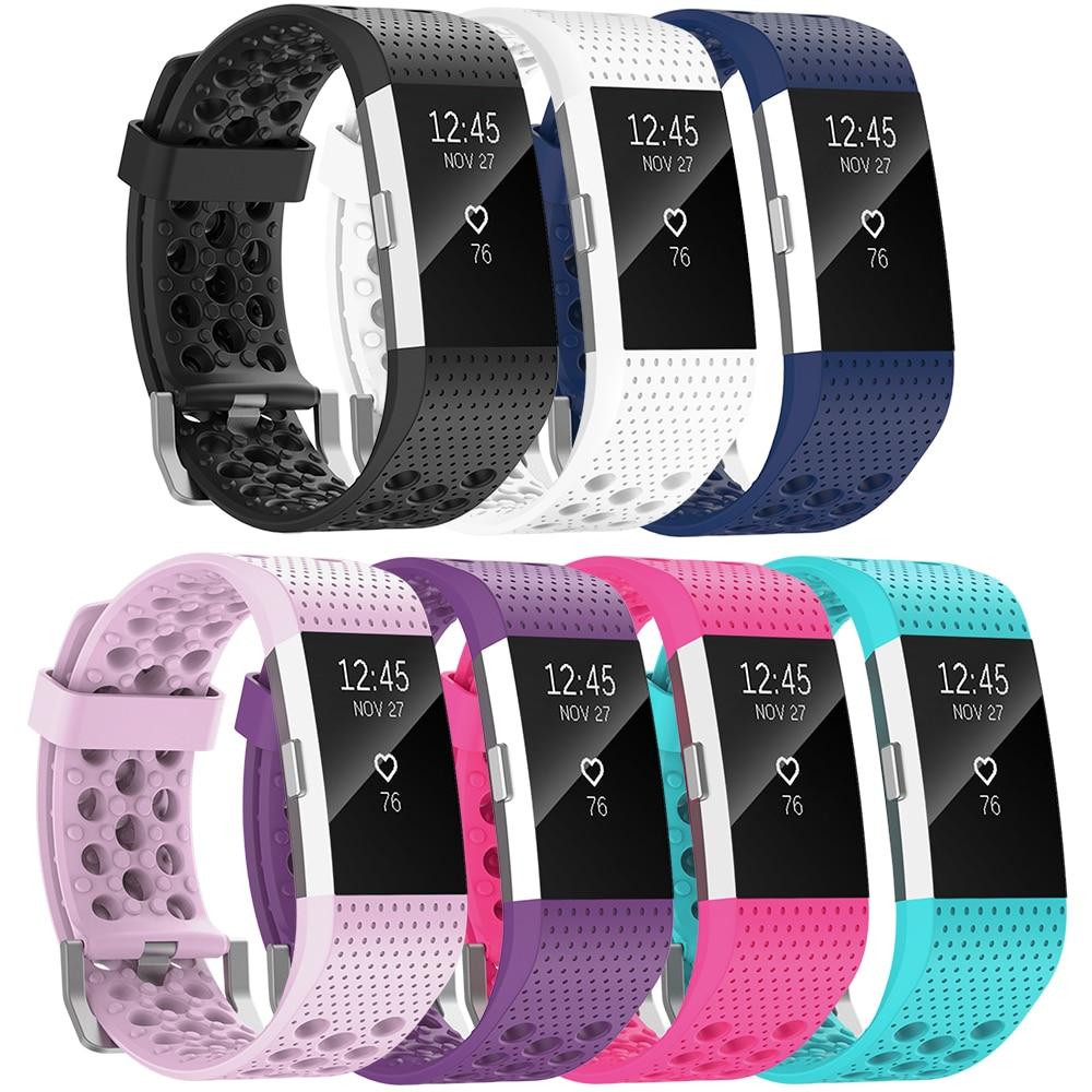 [해외](C2TQ) 시계 밴드 Fitbit 충전 용 2 밴드 소프트 스포츠 팔찌 Fitbit 충전 용 통기성 팔찌 2 Large Small/(C2TQ) Watch Strap For Fitbit Charge 2 Bands Soft Sports Wristband Breat