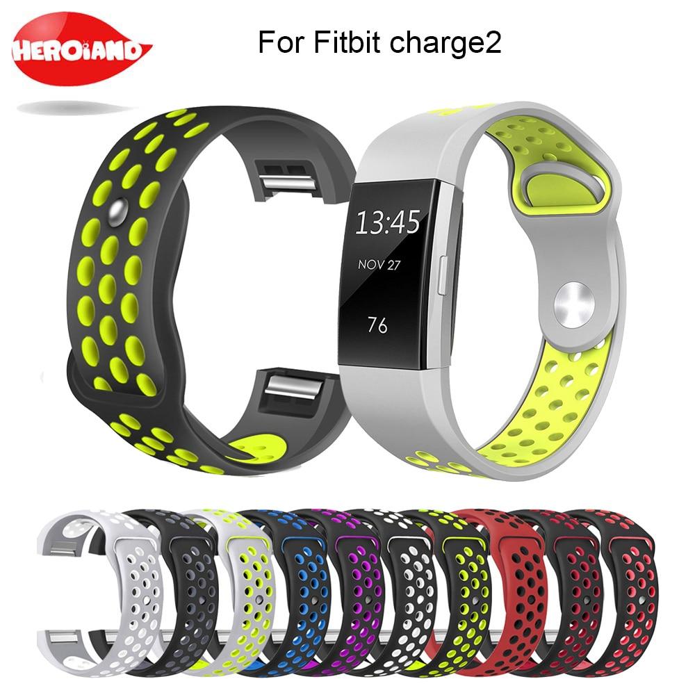 [해외]/Colorful Band for Fitbit Charge 2 Sport Silicone Band wrist Strap For Fitbit Charge 2 Bracelet Smart Wristband Smart Accessories