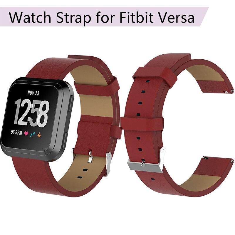 [해외]Leather Strap for Fitbit Versa Replacement Leather Watch Strap for Fitbit Versa Watch Band Bracelet Belt Smart Wristband Parts/Leather Strap for F