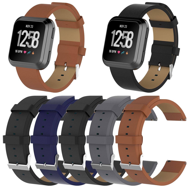 [해외]Leather Strap for Fitbit Versa Watch Strap for Fitbit Versa Watch Band Bracelet Belt Smart Wristband Replacement Accessories/Leather Strap for Fit