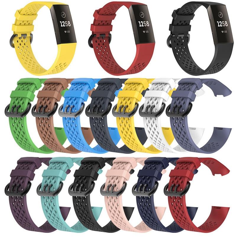 [해외]Fashion Sport Watch Strap Breathable Silicone Bracelet Strap Band For Fitbit Charge 3 3B11/Fashion Sport Watch Strap Breathable Silicone Bracelet
