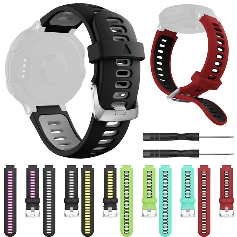 [해외]22MM Watch Strap + Screwdriver Soft Silicone Replacement Wrist Strap Watch Band for Garmin Forerunner 735XT 3B11/22MM Watch Strap + Screwdriver So