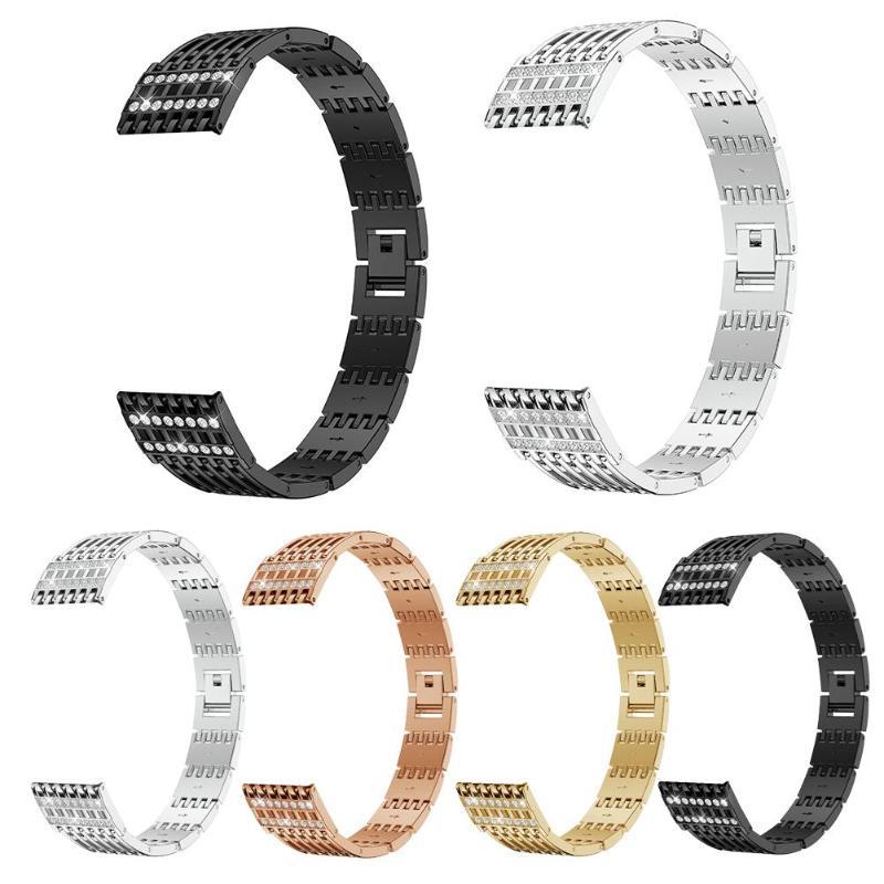 [해외]Rhinestone Stainless Steel Bracelet Watch Band Wrist Strap for Fitbit Versa/Rhinestone Stainless Steel Bracelet Watch Band Wrist Strap for Fitbit