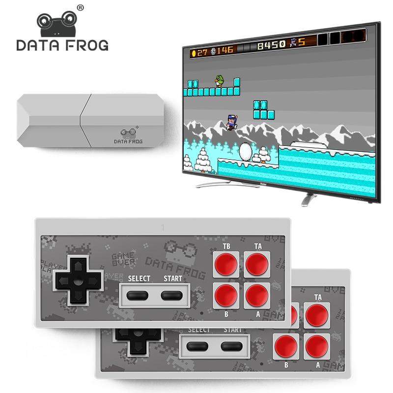 [해외]데이터 개구리 새로운 비디오 tv 게임 콘솔 8 비트 내장 실제 600 클래식 레트로 게임 휴대용 미니 무선 컨트롤러 av 출력/데이터 개구리 새로운 비디오 tv 게임 콘솔 8 비트 내장 실제 600 클래식 레트로 게임 휴대용 미니 무선 컨트롤