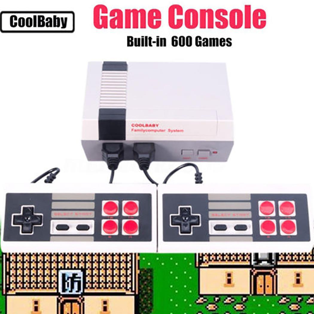 [해외]620 Games Retro Classic Gaming Console Mini TV Handheld Family Recreation Video Game Console AV Port Dual Gamepad Gaming Player/620 Games Retro Cl