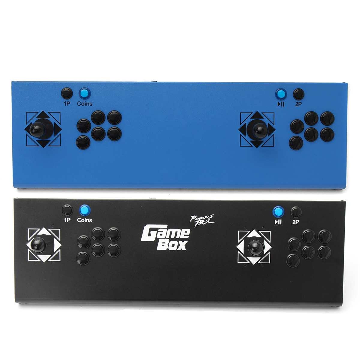 [해외]815 in 1 box 4 s 비디오 게임 아케이드 콘솔 머신 더블 스틱 선물 2 플레이어 컨트롤 usb 조이스틱 블루 블랙/815 in 1 box 4 s 비디오 게임 아케이드 콘솔 머신 더블 스틱 선물 2 플레이어 컨트롤 usb 조이스틱 블루