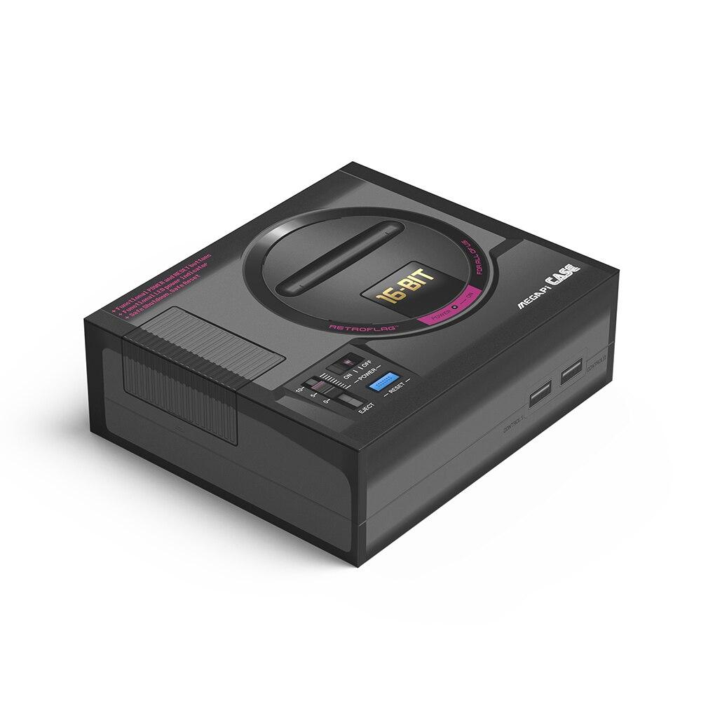 [해외]Retroflag megapi 케이스 게임 콘솔 라즈베리 파이 3 b + (b plus) 용 안전 폐쇄가있는 기능성 전원 버튼/Retroflag megapi 케이스 게임 콘솔 라즈베리 파이 3 b + (b plus) 용 안전 폐쇄가있는 기능성