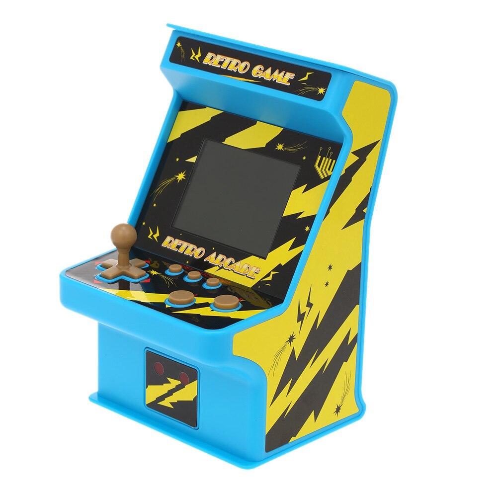 [해외]레트로 미니어처 아케이드 게임 콘솔 핸드 헬드 게임 콘솔 256 게임 유선 게임 패드와 2.8 \\\