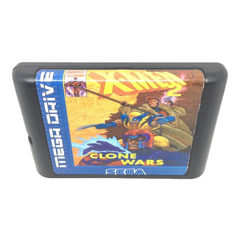 [해외]X-men 2 sega mega drive/genesis 시스템 용 16 비트 게임 카드 게임 카트리지 eur/usa shell/X-men 2 sega mega drive/genesis 시스템 용 16 비트 게임 카드 게임 카트리지 eur/us