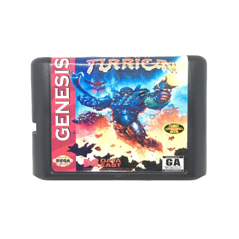 [해외]Sega mega drive 용 16 비트 게임 카드 게임 카트리지 용 mega turrican/Sega mega drive 용 16 비트 게임 카드 게임 카트리지 용 mega turrican
