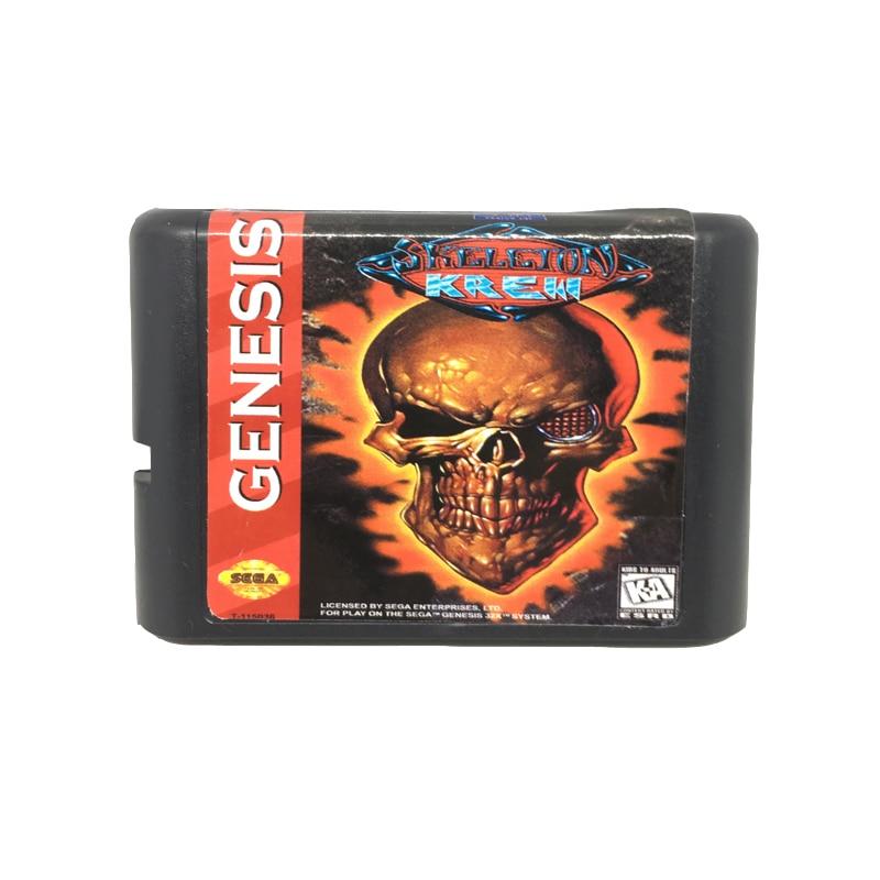 [해외]Sega mega drive 용 16 비트 게임 카드 게임 카트리지 용 스켈레톤 krew/Sega mega drive 용 16 비트 게임 카드 게임 카트리지 용 스켈레톤 krew