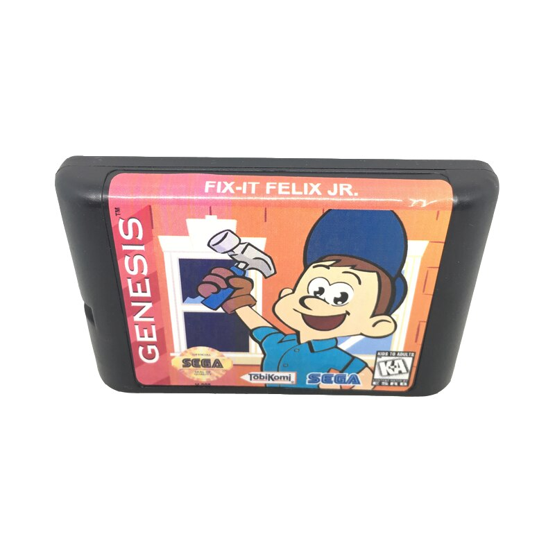 [해외]Sega mega drive/genesis system 용 16 비트 게임 카드 게임 카트리지 용 felix 수정 eur/usa shell/Sega mega drive/genesis system 용 16 비트 게임 카드 게임 카트리지 용 fel