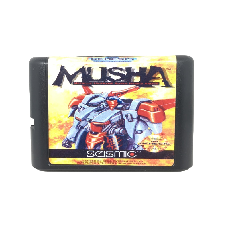 [해외]Sega mega drive 용 16 비트 게임 카드 게임 카트리지 용 musha/Sega mega drive 용 16 비트 게임 카드 게임 카트리지 용 musha