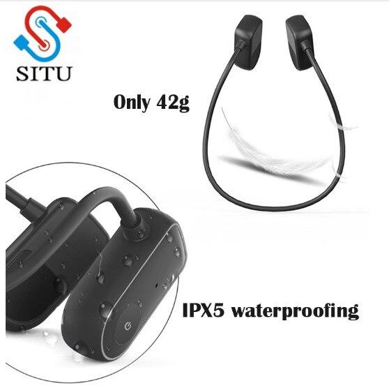 [해외]Conduction Bluetooth Sports Headphone Wireless Sport Headset Waterproof IPX4 Sports Stereo EarphoneMicrophone/Conduction Bluetooth Sports Headphon