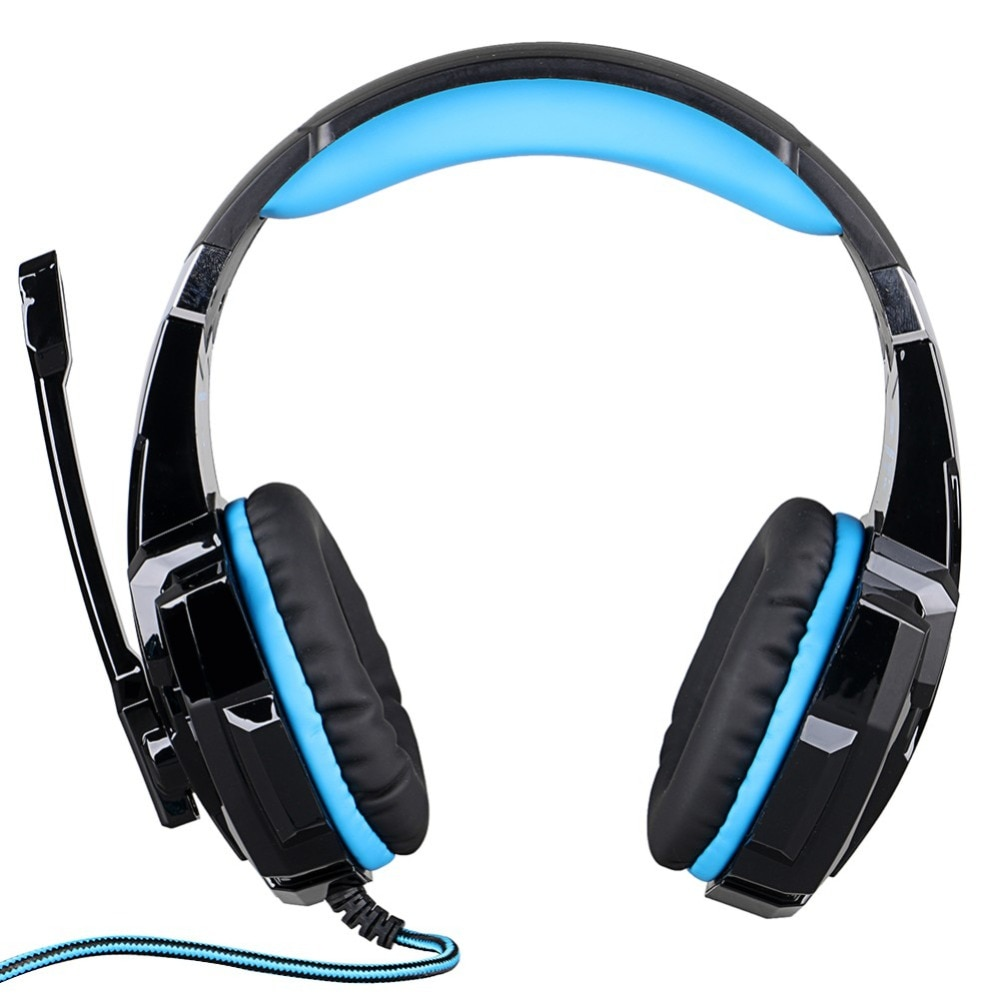 [해외]KOTION 3.5mm Game Headphone for PS4 Laptop Tablet Mobile PhoneMic LED Light Wired Headset EACH G9000 Gaming Headphone/KOTION 3.5mm Game Headphone
