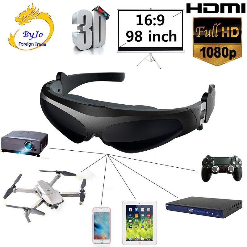 [해외]새로운 fpv 3d 비디오 안경 2 미터 거리 98 인치 가상 디스플레이 대형 스크린 지원 ios 및 안드로이드 hd 입력 1080 p/새로운 fpv 3d 비디오 안경 2 미터 거리 98 인치 가상 디스플레이 대형 스크린 지원 ios 및 안드로