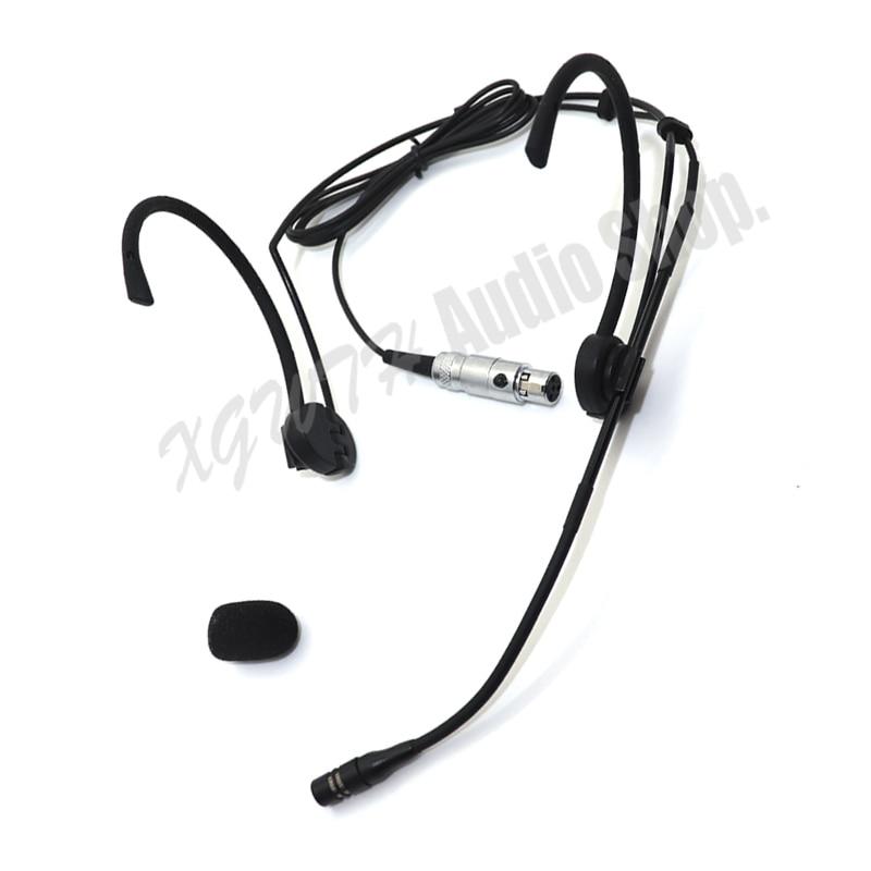 Shure ulx slx pgx ut 무선 라디오 마이크 시스템 송신기 용 xgwth 듀얼 후크 헤드 헤드셋 마이크 beltpack foldable ears