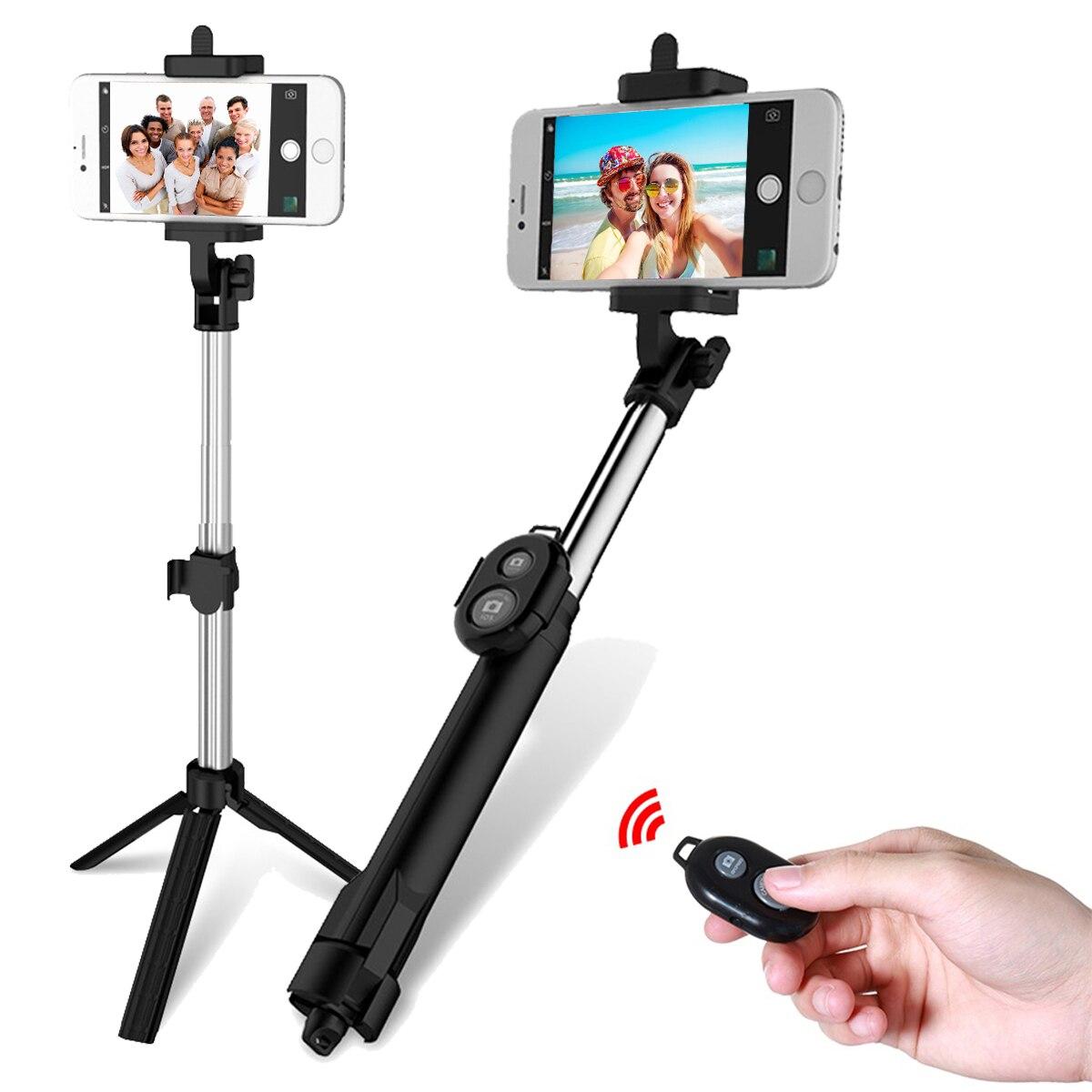 [해외]접이식 삼각대와 브랜드 foldable selfie 스틱 셀프 블루투스 selfie 스틱 블루투스 셔터 원격 컨트롤러 카메라 도구/접이식 삼각대와 브랜드 foldable selfie 스틱 셀프 블루투스 selfie 스틱 블루투스 셔터 원격 컨트