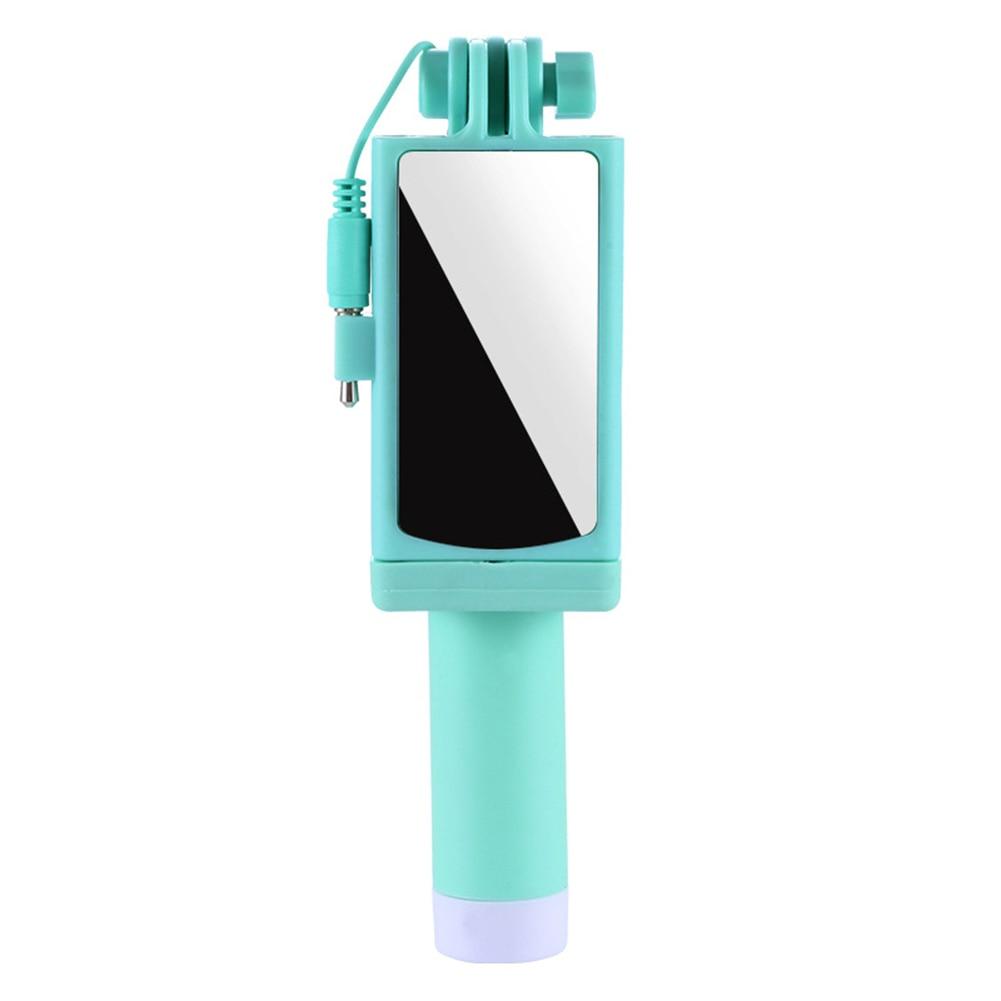 [해외]새로운 유선 selfie 스틱 거울 foldable 안정적인 스테인레스 스틸 아이폰 안 드 로이드 휴대 전화 dom668/새로운 유선 selfie 스틱 거울 foldable 안정적인 스테인레스 스틸 아이폰 안 드 로이드 휴대 전화 dom668