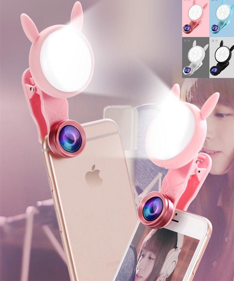 [해외]서클 소녀 라이브 비디오 토끼 고양이 귀 selfie 반지 led 램프 매크로 렌즈 휴대용 모바일 cramp 홀더 스마트 폰 카메라 라이트 스탠드/서클 소녀 라이브 비디오 토끼 고양이 귀 selfie 반지 led 램프 매크로 렌즈 휴대용 모바일