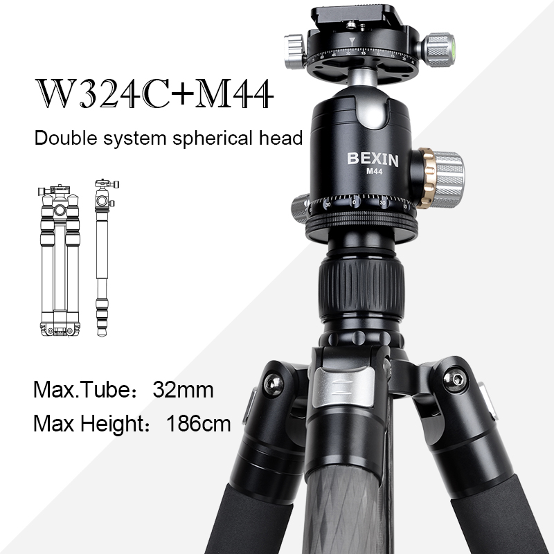 디지털 카메라 용 720 파노라마 직업 볼 헤드가있는 bexin 휴대용 및 경량 알루미늄 모노 포드 삼각대