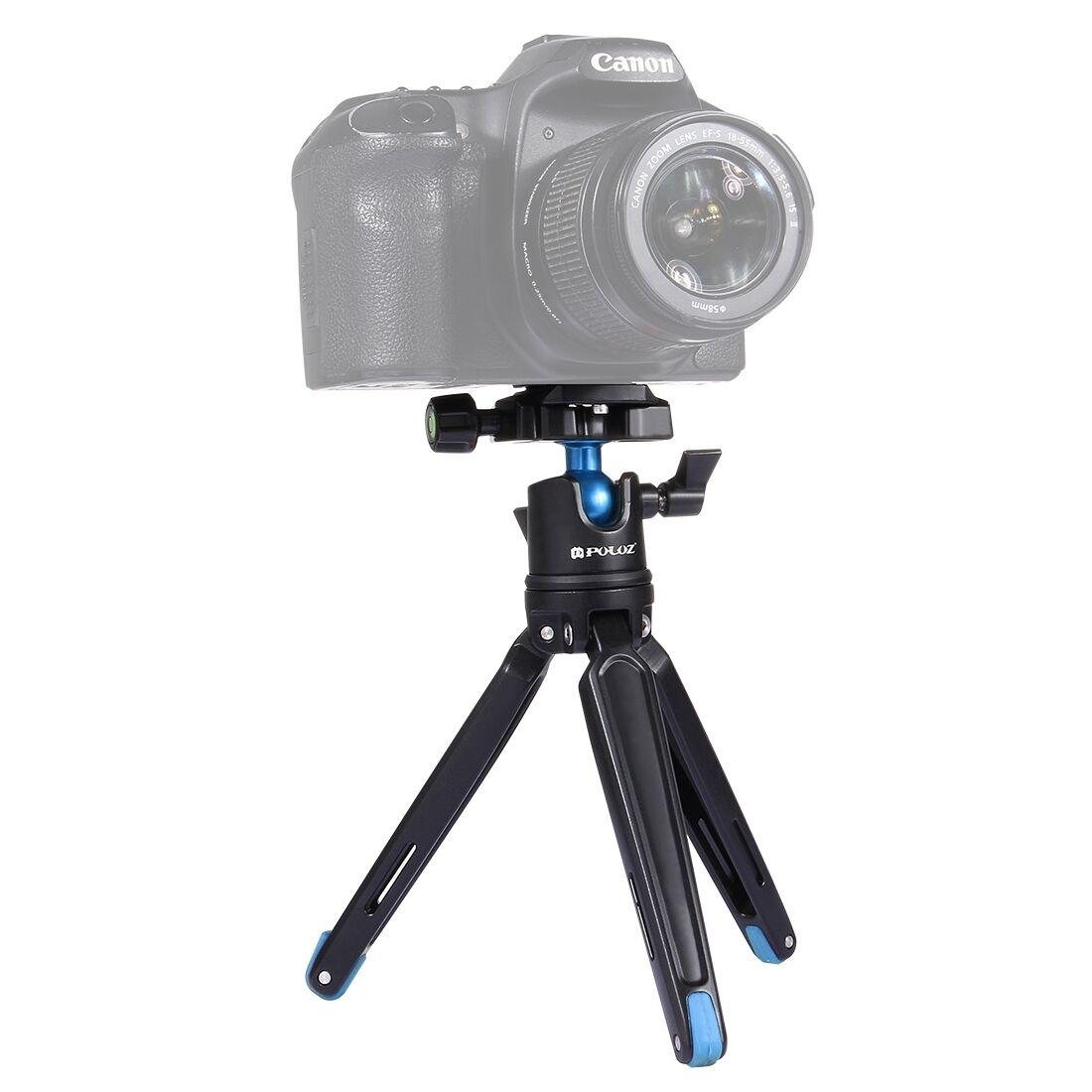 PULUZ 360 학위 볼 헤드 조절 데스크탑 삼각대 마운트/전화/GoPro 스포츠 카메라