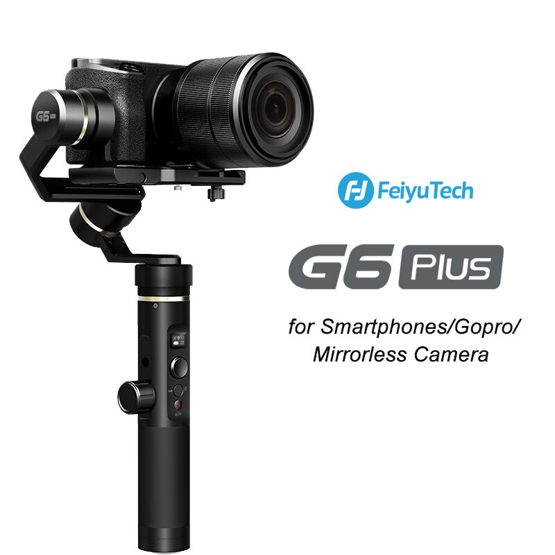 [해외]Feiyutech g6 plus 3 axis gimbal strabilizer gopro 스마트 폰 미러리스 카메라 용 휴대용 블루투스 wifi 짐벌 feiyu g6p/Feiyutech g6 plus 3 axis gimbal strabilize