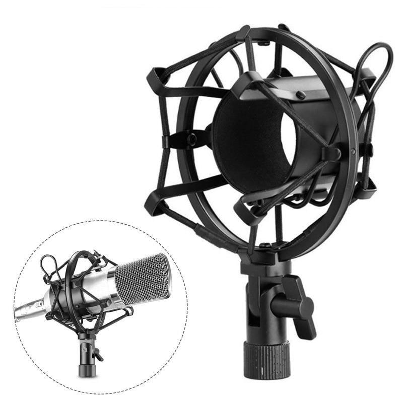 [해외]Metal Microphone Shock Mount Shockproof Mic Stand Studio  Karaoke Condenser Microfone Mikrofon Holder bm 800 Microphone Stand/Metal Microphone Sho