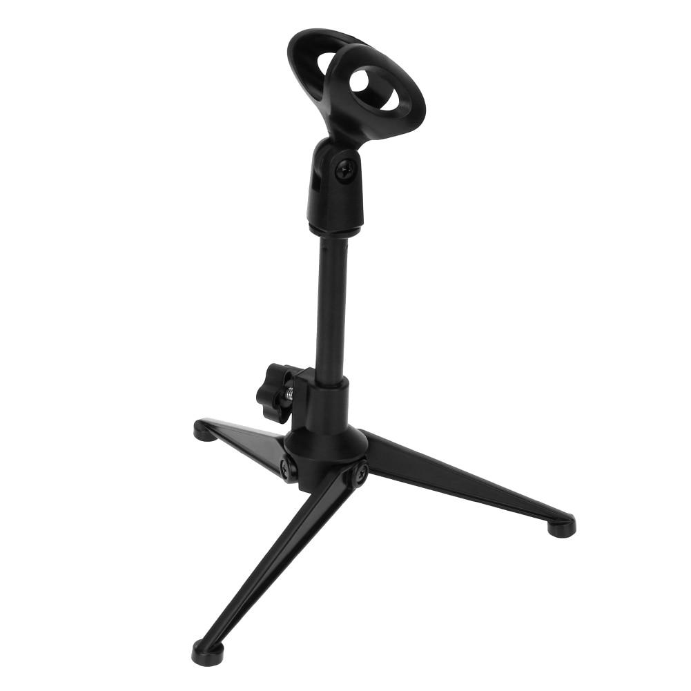 [해외]Folding Adjustable Desktop Microphone Stand Holder ABS + Zinc alloy Portable Microphone Tripod Stand for PC wired wireless Mic/Folding Adjustable