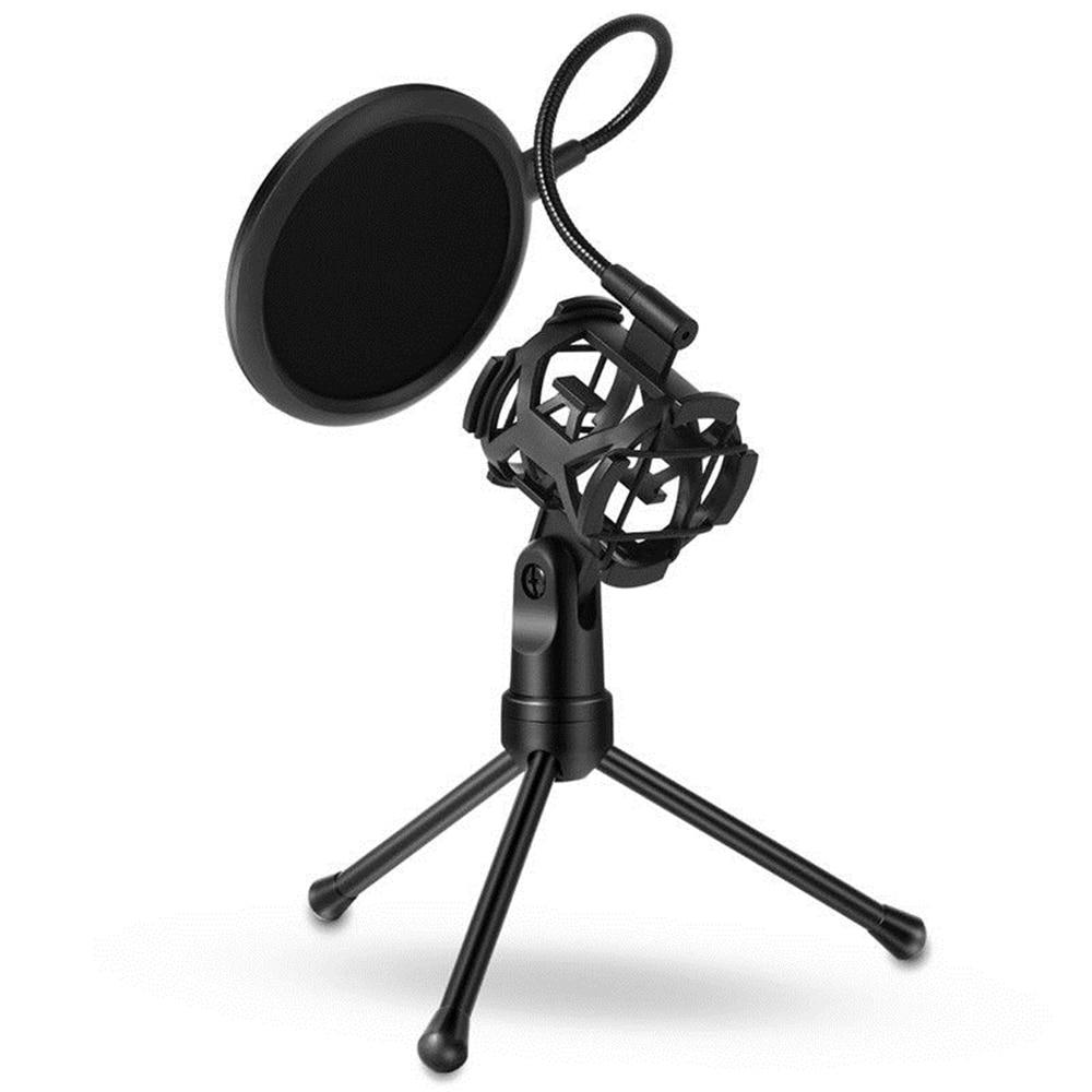 [해외]Mini Microphone POP Filter Shockproof Desktop Tripod Stand Microphone Mount Mic Stand Tripod Microphone kits/Mini Microphone POP Filter Shockproof