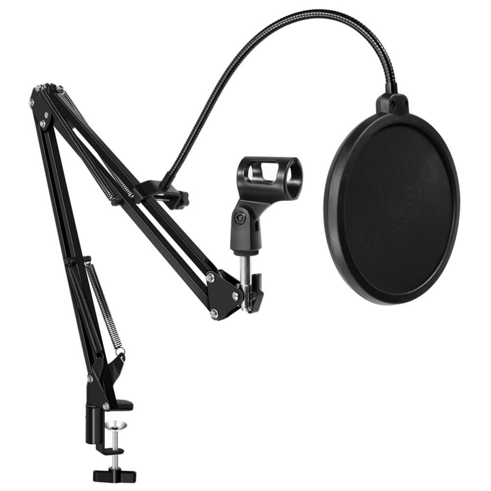 [해외]For BM 800 Microphone Stand Filter For BM 800 Holder Arm Studio Recording Karaoke Microphone Stand & Filter Windscreen Mask Mic/For BM 800 Mic