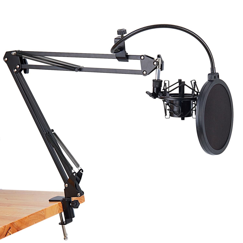 [해외]NB-35 Microphone Scissor Arm Stand and Table Mounting Clamp&NW Filter Windscreen Shield & Metal Mount Kit/NB-35 Microphone Scissor Arm Sta