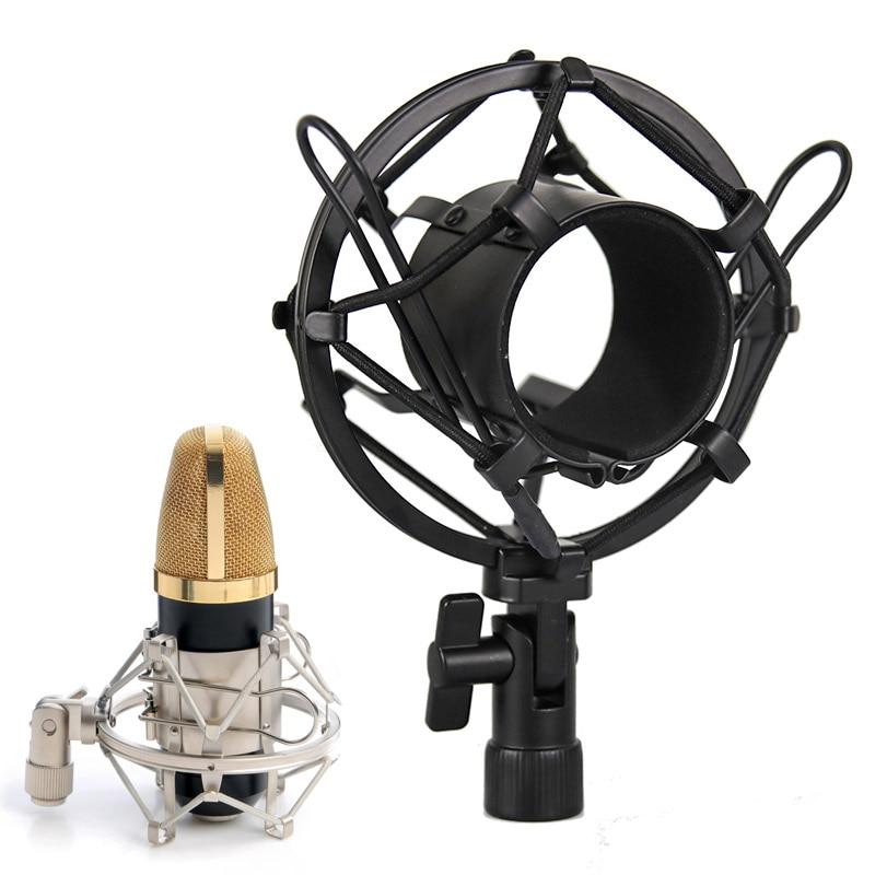 [해외]For BM 800 Microphone Stand Microphone Shock Mount Clip Holder Metal Shock Mount Mic Bracket Holder For Computer Condenser Mic/For BM 800 Micropho