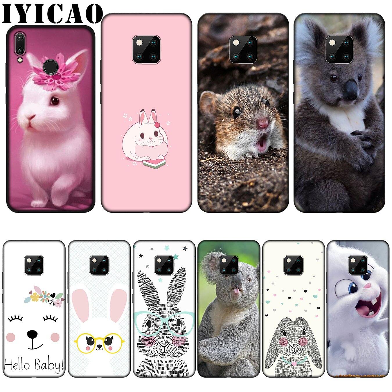 [해외]IYICAO cute animals Mr Koala Easter Bunny Rabbit Silicone Soft Case for Huawei Nova 3 3i 2i for Huawei Mate 20 10 Pro Lite/IYICAO cute animals Mr
