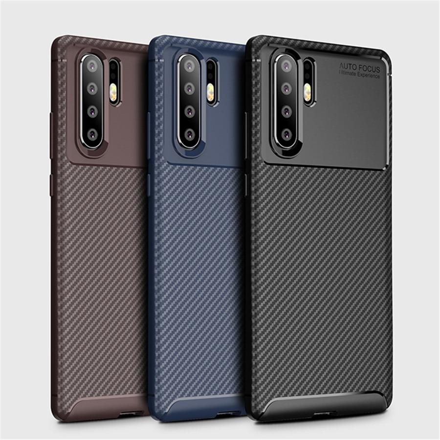 [해외]Case For huawei P30 Pro p30 Case Carbon Fiber Shock proof  Back Cover For Huawei p 30 Lite  Phone Case Soft Silicone Fundas/Case For huawei P30 Pr
