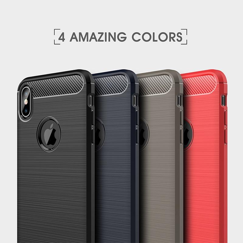 [해외]Carbon Fiber Case For iPhone XS Max Case Silicone Cover For iPhone XR X 8 7 6 6S Plus SE 5S 5 S Super Slim Phone Shell Capa/Carbon Fiber Case For