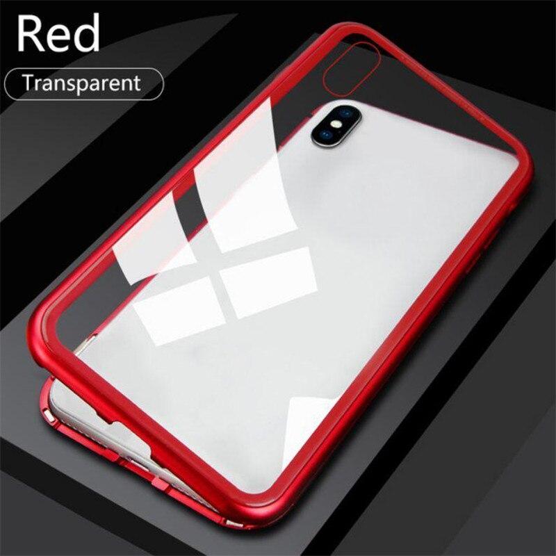 [해외]Indestructible Magnetic Phone Case for iPhone X XR XS Max Metal Magnet Adsorption Case for iPhone 7 8 Plus 6 6S Back Cover/Indestructible Magnetic