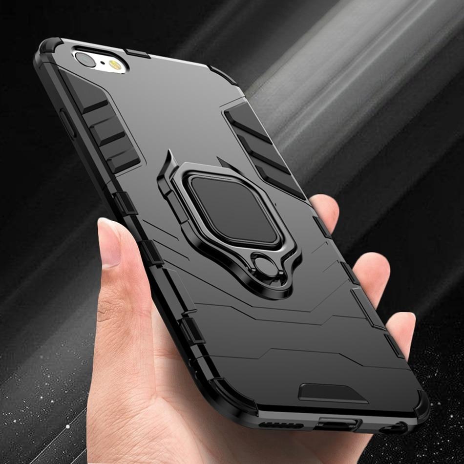 [해외]LOVECOM Metal Car Ring Holder Cases For iPhone X XS Max XR 6 6S 7 8 Plus Full Body Magnetic Bumper Soft Phone Back Cover/LOVECOM Metal Car Ring Ho