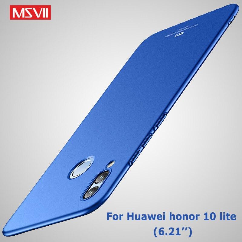 [해외]For Huawei Honor 10 Lite Case Cover Msvii Brand Silm Coque Huawei Honor View 10 Case Hard PC Cover Honor10 Lite Honor V10 Cases/For Huawei Honor 1