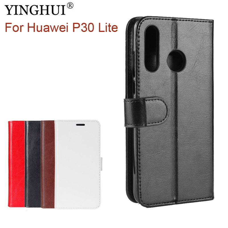 [해외]For Huawei P30 Lite Case Cover Wallet Stand PU Leather Case For Huawei P30 Lite Coque Funda Capa Flip Phone Silicone Back Cases/For Huawei P30 Lit