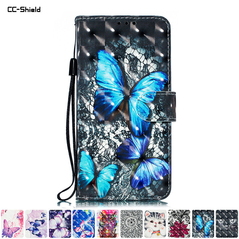 [해외]Flip Case for Huawei Honor 10 COL-L29 COL-L29D Case 3D Painted Phone Leather Cover for Huawei Honor10 COL L29 L29D Cases Bag/Flip Case for Huawei