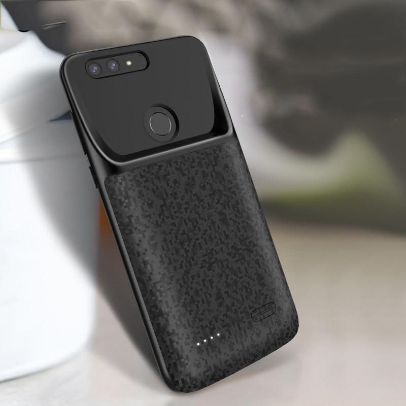 [해외]Battery Charger Case For Huawei Y7 Prime 2018 Nova 2 Lite Enjoy 8 Honor 7C Pro Silicone shockproof External Power Bank Cases/Battery Charger Case