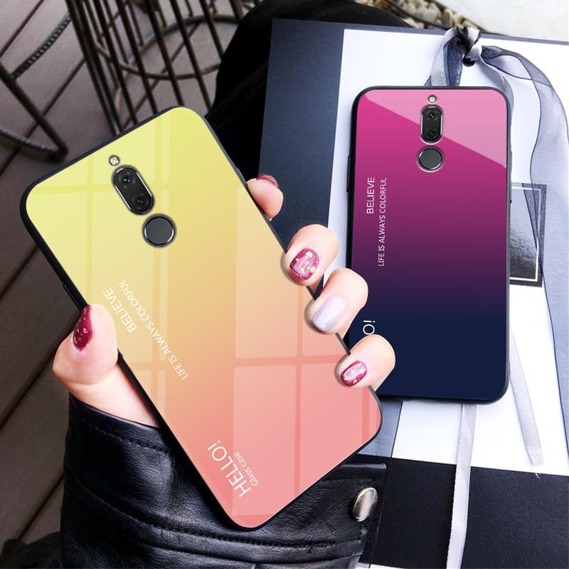 [해외]Translucent Gradient Tempered Glass Case For Meizu M6T 6T 5.7 inch 2018 case cover TPU Soft Edge Full Cover/Translucent Gradient Tempered Glass Ca