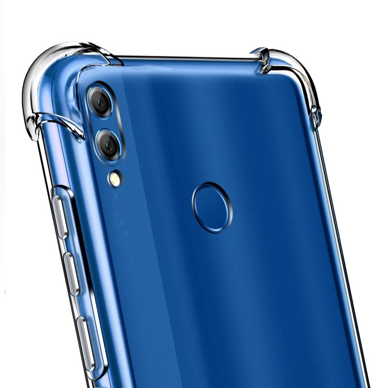 [해외]YUETUO transparant Soft tpu phone back etui,coque,cover,case for huawei honor 8x 8 x silicone silicon accessories protector/YUETUO transparant Sof