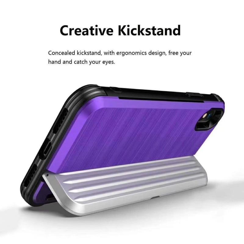 [해외]For Huawei P20 Lite Case Silicone Armor Stand Hard PC Card Slot Wallet Back Cover For Huawei P20 Lite Cover Accessories Coque/For Huawei P20 Lite