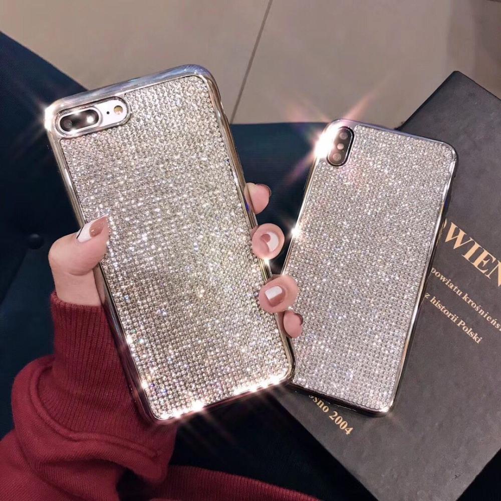 [해외]Rhinestone Bling Glitter Case for Huawei P20 Pro P20 Lite Soft Silicone TPU Diamond Protector Back Cover for huawei Nova 3 3i 8X/Rhinestone Bling