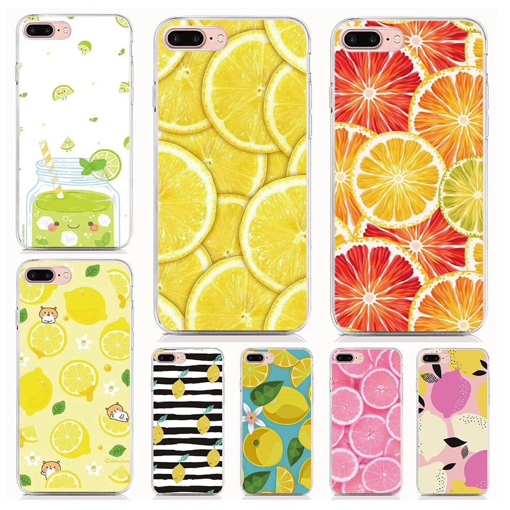 [해외]Lemon Cover For iphone X XR XS MAX 4 4S 5 5S SE 6 6S 7 8 9 Plus For iPod Touch 6 Phone Case Coque/Lemon Cover For iphone X XR XS MAX 4 4S 5 5S SE