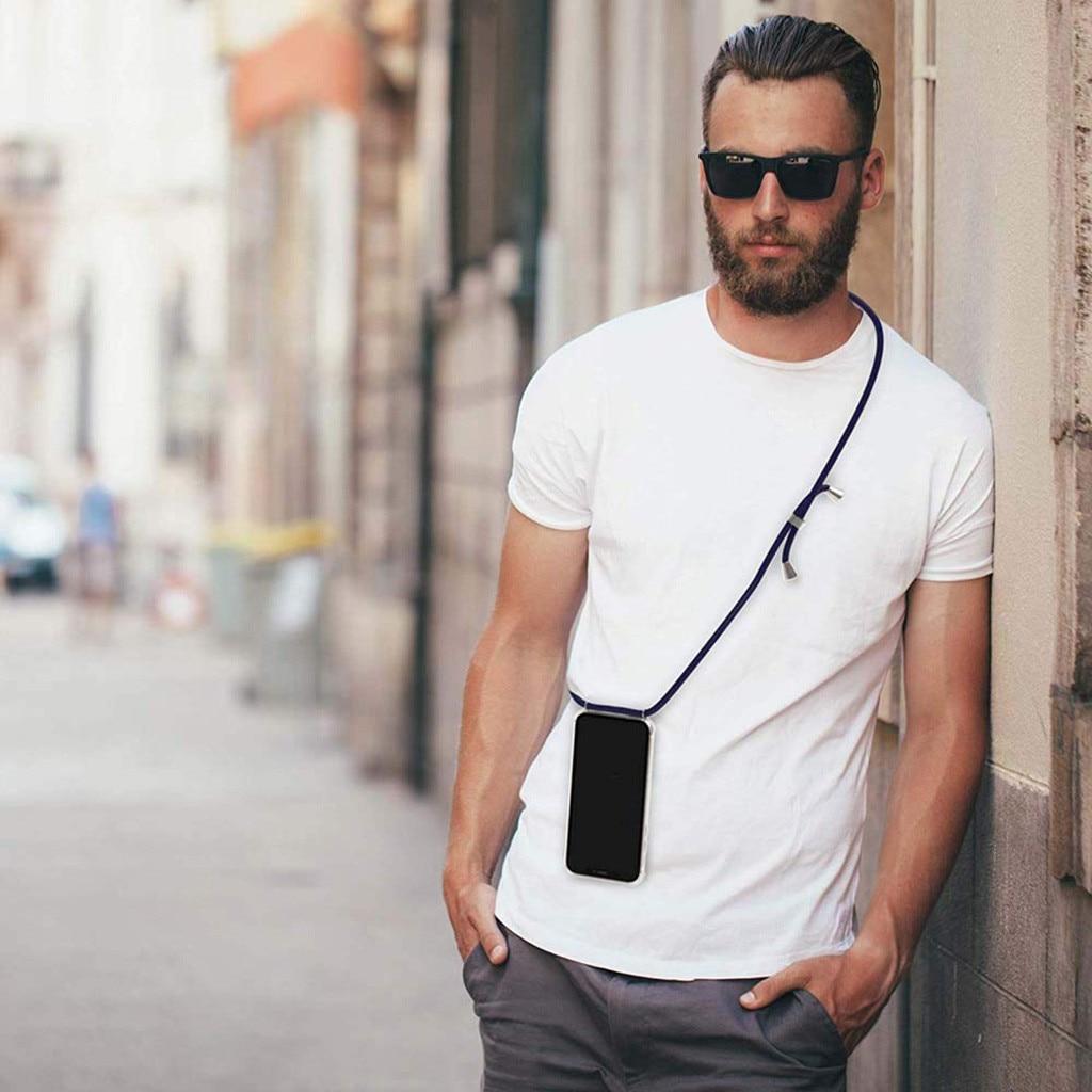 Beautyss 전화 케이스 커버 삼성 s8 s9 플러스 s10 e 플러스 스트랩 전화 끈 목걸이 어깨 밧줄 코드 투명 tpu