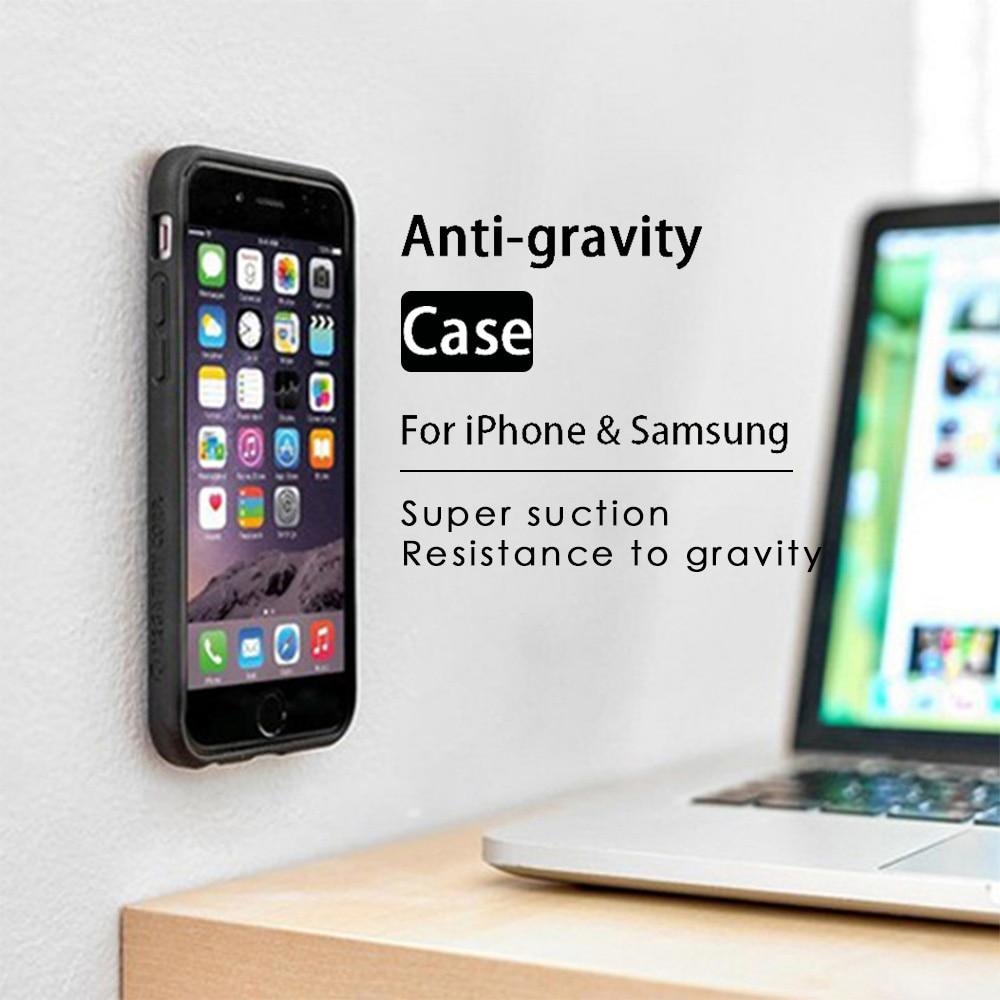 Kisscase 안티 중력 케이스 아이폰 x 8 7 6 6 s 플러스 xs 맥스 케이스 삼성 갤럭시 s6 s7 가장자리 s8 s9 플러스 참고 8 9 전화 커버